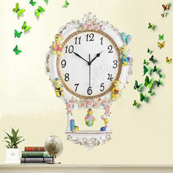 Large Creative Silent Art Wall Clock Vintage Digital Decorative Antique Home Decor Orologi Da Parete Household Supplies 50A0933