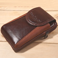 New Men Oil Wax Cowhide Leather Real Fanny Waist Bag Cell Phone Case Coin Purse Messenger Shoulder Hip Belt Bum Card Hook Pack