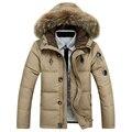 90% de pato blanco abajo chaquetas de Los Hombres 2016 de invierno nueva moda abrigos, abrigo, ropa exterior, parka, zanja M-XXXL