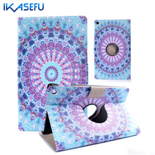 IKASEFU 360 Rotating PU Leather Case Cover For Amazon Kindle New Fire HD 8 HD8 2016 Filp Coque Fundas for Amazon Kindle Fire HD8