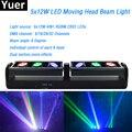 6x12 Вт RGBW 4в1 CREE Leds Beam Moving Head Lights dual section 90 Вт LED 8 градусов Beam 6/16/28/32 Channel DMX 512 для диско-бара DJ