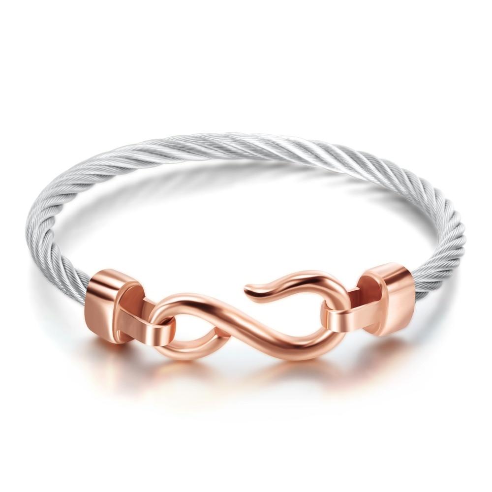 Fashion Charm Armbänder mit Edelstahlhaken Modeschmuck Infinity Love - Modeschmuck - Foto 4