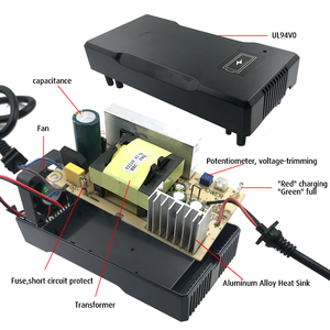 Image 5 - YZPOWER אינטליגנטי 58.8V 4A ליתיום סוללה מטען עבור חשמלי כלי רובוט חשמלי רכב li על סוללה 48V(51.8V) 14S