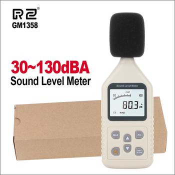RZ cyfrowy miernik poziomu dźwięku metrów Tester hałasu w decybelach LCD A C szybka wolny DB ekran GM1358 30-130dB tanie i dobre opinie 30 ~ 130dB