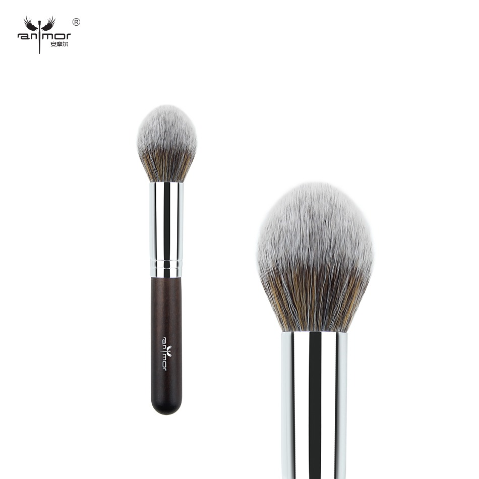Anmor Brand 1 Powder Brush Face Professional Makeup Brushes Synthetic Hair Make Up Brush Necessaries For Women Makeup