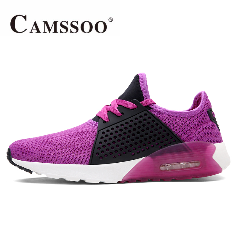ФОТО 2017 CAMSSOO Womens Sports Outdoor Running Shoes Sneakers For Women Zapatillas Deporte Mujer Running Jogging Shoes Woman