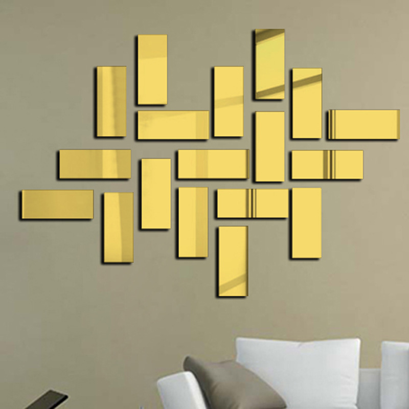 New Special offer modern acrylic 3d sticker square new design mirror ...