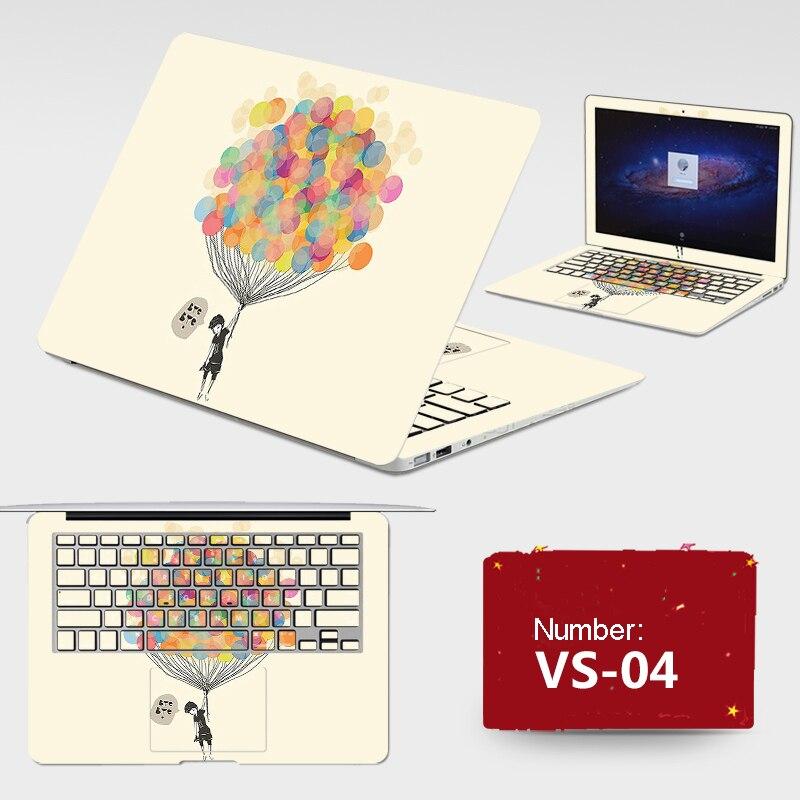 New ! 2017 Laptop Sticker Free Cutting PVC Skins Dustproof ABC Sides+Keys+Key Interstice Stickers For lenovo M50 Case