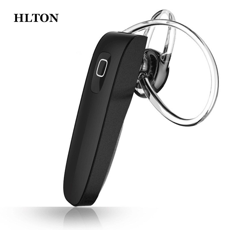 HLTON Bluetooth Headset Wireless Hands Free Headphone HD Noise Cancelling Earphone With Mic For iPhone Samsung Xiaomi Huawei boas wireless bluetooth earphone hands free earbud earpiece car charger usb headsets with mic 2 in 1 headset for iphone xiaomi