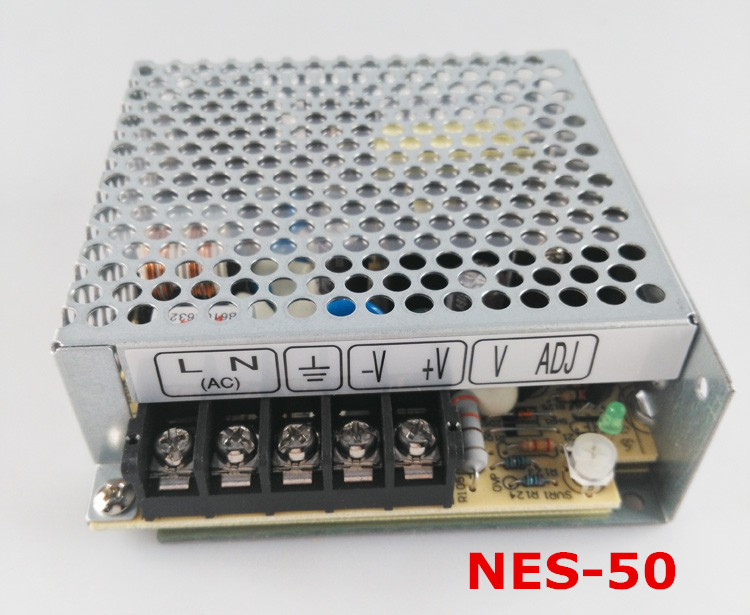 Free shipping 1pc  NES-50-5 50w 5v 10A Single  Output Switching Power Supply 50 5