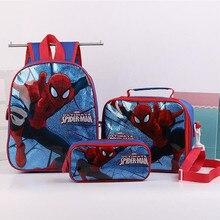 Мода 3 шт./компл. детское платье для девочек, платье для девочек с героиней мультфильма Эльзой школьные рюкзаки принцессы Милые Детские рюкзаки с принтом Человека-паука для детей, школьная сумка