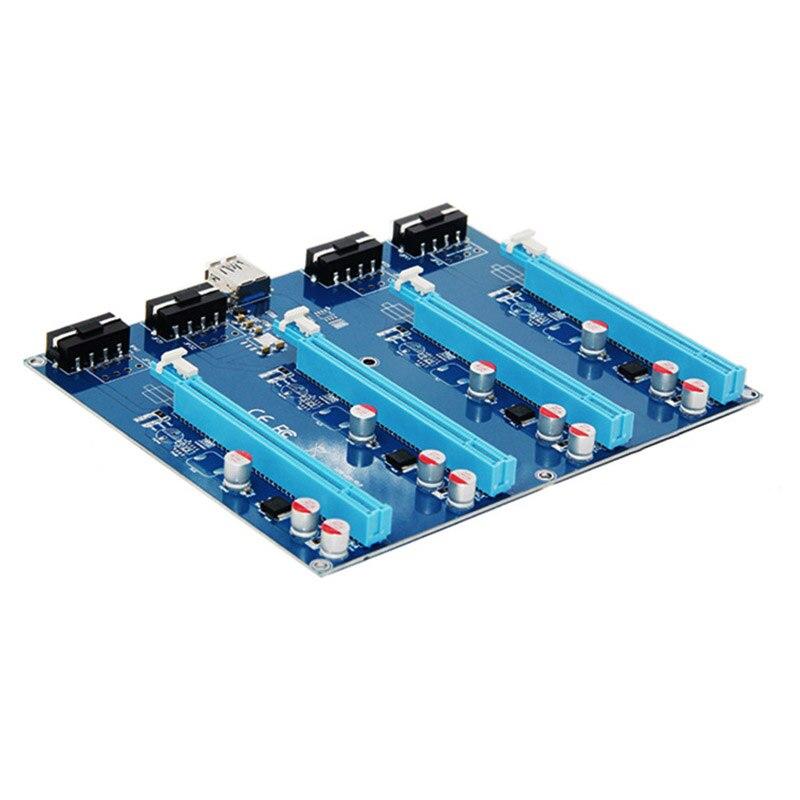 New Hot PCI-E X1 PARA Kit de Expansão X16 4PCI-E 1 para 4 Interruptor Multiplicador HUB Port PCI Express Placa Riser para BTC Mineiro 99
