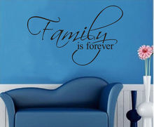 FoodyMine Family is forever Wall Quote Decals Vinyl Stickers Decor Home Art Room Mural