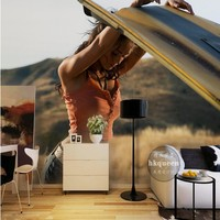 Free Shipping Sexy Beauty Poster TV Backdrop Wallpaper Living Room Bedroom Hotel Exhibition Hall Mural