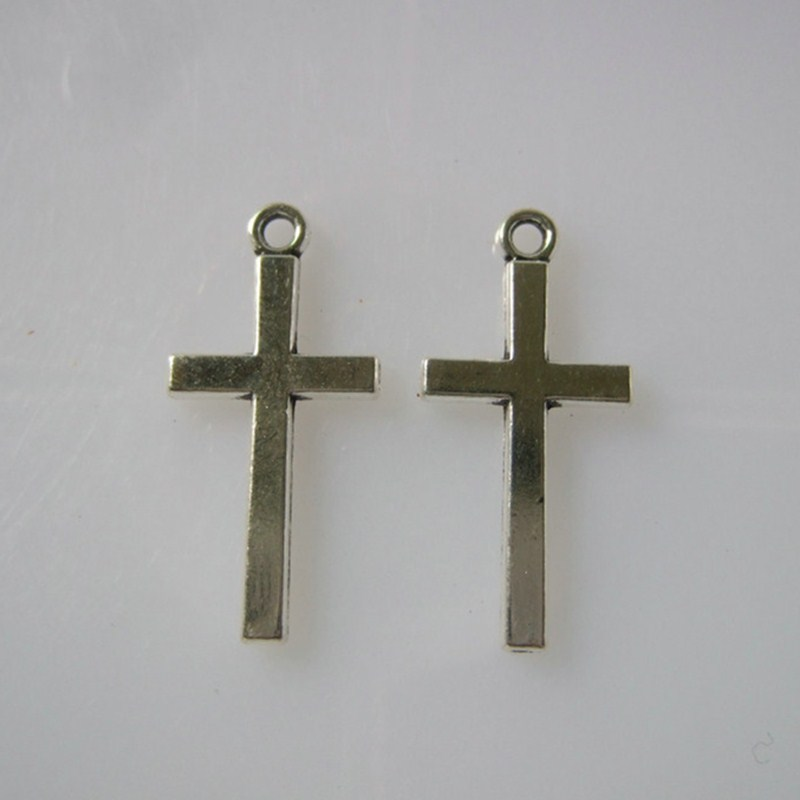 30pcs antique silver religious holy cross charms pendants for 30pcs antique silver religious holy cross charms pendants for jewellery craft making 2713mm aloadofball Image collections