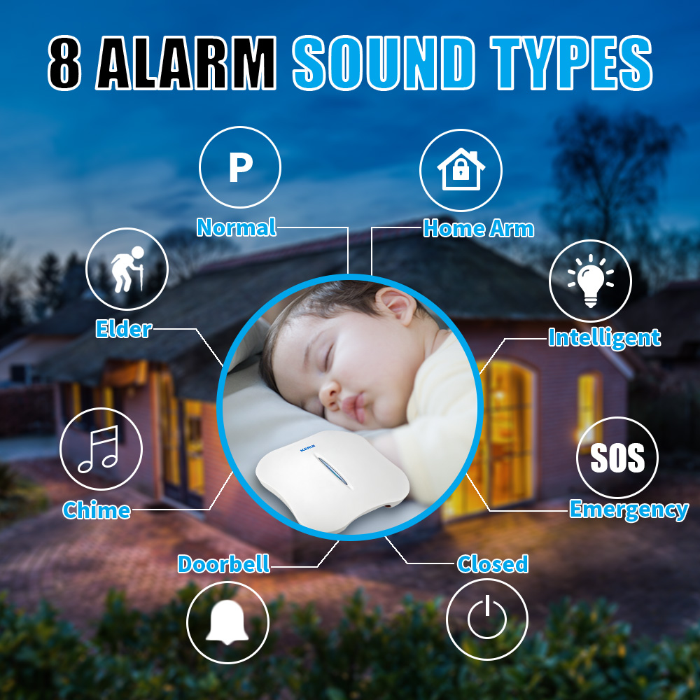 Image 2 - KERUI W1 Voice Prompt Wireless WiFi PSTN Home Security Linkage Alarm Anti theft Alarm System Kit with Indoor Outdoor IP Camera-in Alarm System Kits from Security & Protection