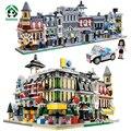 Ciudad de Street View 1354 unids Bloques de Construcción de Juguete 5 Casas 1 coche del juguete figura Modelos y Juguete Del Edificio Ladrillos Compatible con lego