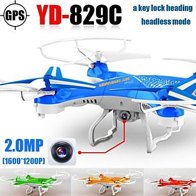 Attop YD829c Drone with Hd Camera One Key Lock Heading 2 4g 4ch 6axis Rc Quadrocopter