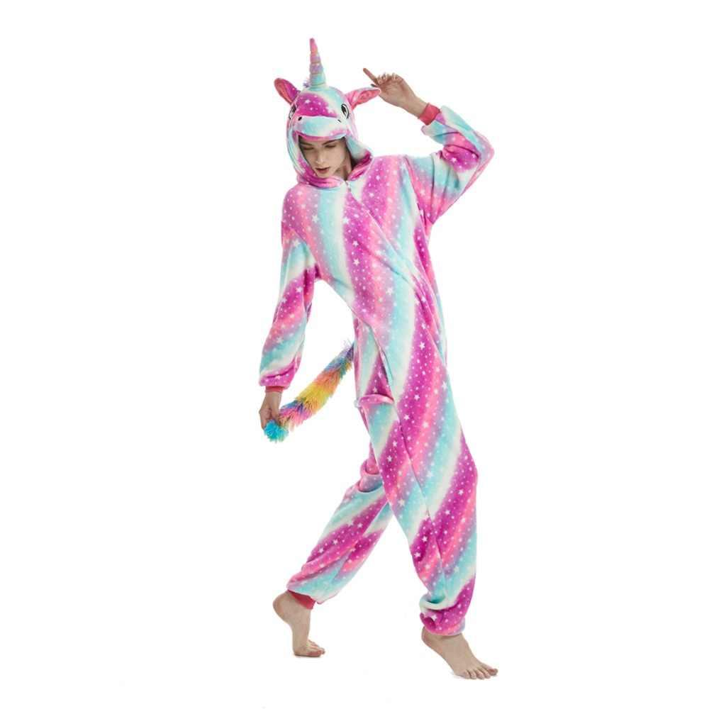 Onesie Зима взрослых унисекс пижамы с животными из мультфильмов Хэллоуин костюм  для косплея с капюшоном пижамы e4218e8d369c3