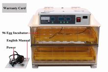 Top sale Digital Automatic Egg incubator 96 chicken egg hatching machine Turning chicken gooose quail duck  egg  poultry