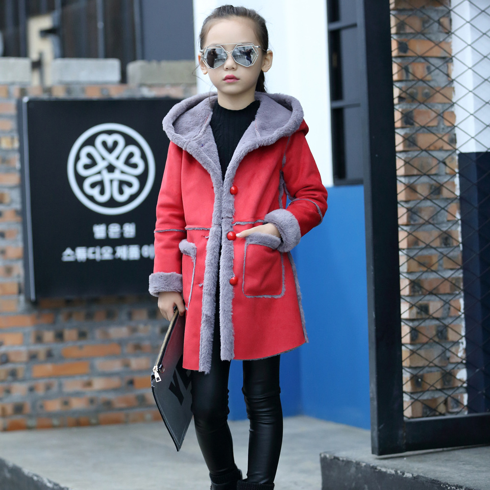 Fashion Girls Winter Coat Kids Long Hooded Jackets Thicken Warm Outerwear Baby Clothing Children Outerwear Cotton Clothes children hooded thicken clothing girls winter coat 2017 new kids parka warm cotton down winter girls jackets girls outerwear