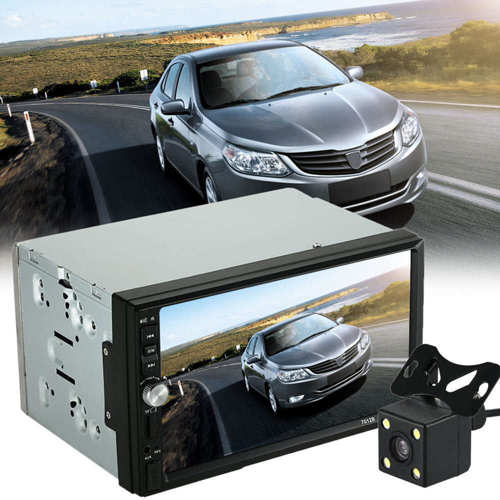 AUTO Car Video Player DVD 7'' HD Touch Screen Bluetooth Stereo Radio Car MP5 Audio + Camera USB Auto Electronics In Dash feb09 7021g 2 din car multimedia player with gps navigation 7 hd bluetooth stereo radio fm mp3 mp5 usb touch screen auto electronics