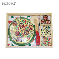 1 pc Pizza Cloth Novelty Funny Pretend Play Educational Cutting Toy Accessory Photo Prop for Festival Carnival