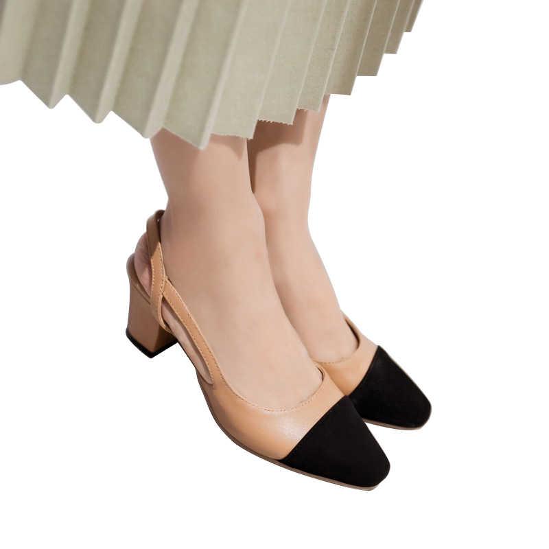 8c3da720e96 ... WETKISS 2019 nueva moda Primavera Verano colores mezclados sandalias de  las mujeres Damas del dedo del