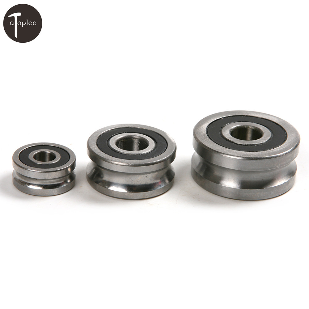 1PC U Groove Sealed Pulley Roller Ball Bearing Steel Roller Guide Bearing For Mechanical 8*24*11mm,12*35*16mm,12*42*19mm 1 piece bu3328 6 6 33 27 5 29 5 mm z25 guide rail u groove plastic roller embedded dual bearing