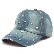 Quality Denim With Stars Rhinestones