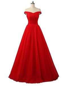 Image 1 - Angelsbridep Short Sleeve Tulle Long Evening Dress 2020 Strapless Pleat Womens Dress Vestidos De Festa Formal Party Gown Lace up