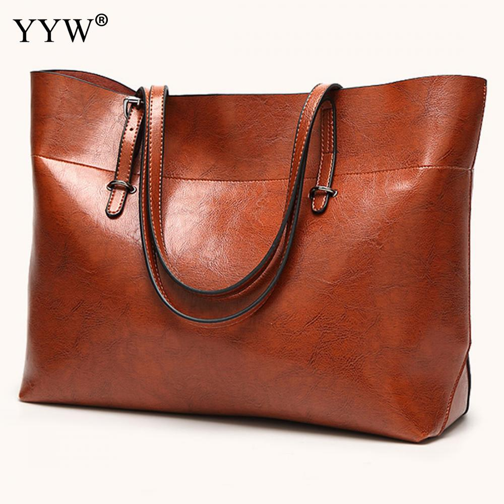 Casual Tote Bag for Women 2018 Top-Handle Bags Famous High Capacity Lady's Shoulder Bag Brand Luxury Women's PU Leather Handbags hot sale 2016 france popular top handle bags women shoulder bags famous brand new stone handbags champagne silver hobo bag b075