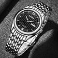 NAKZEN, Мужские автоматические механические часы Miyota 8205, мужские деловые водонепроницаемые часы из нержавеющей стали, мужские часы