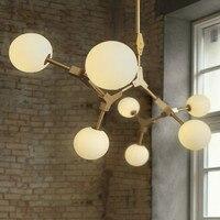Postmodern Creative Magic Bean Kitchen Pendant Lights Glass Ball Led Hanging Light Fixtures For Living Dining Room Restaurant