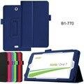 """2-Folder Ultra Delgado Del Grano Del Lichí Folio Soporte de la Piel Protectora de Cuero de LA PU Caso de la cubierta Para Acer Iconia Uno 7 B1-770 B1 770 7 """"Tablet"""