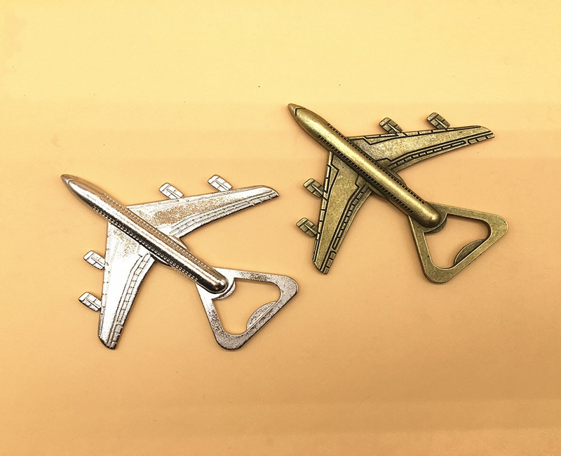 200pcs lot Antique Air Plane Airplane Shape Wine Beer Bottle Opener Metal Openers For Wedding Party