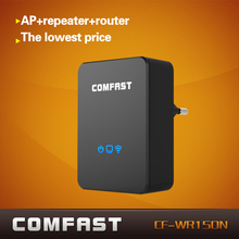 COMFAST 150Mbps WIFI repeater AP+repeater+router three-in-one CF-WR150N 802.11N portable wireless AP wi fi router EU/US plug(China (Mainland))