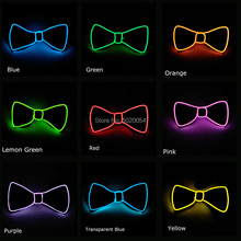 Hot selling Flashing LED Bow Tie Light Up EL Glowing Necktie Bowtie Cravat For Dance DJ Sexy Club Costumes Accessories