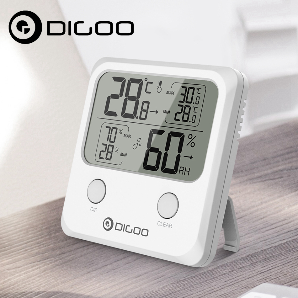 DIGOO DG-TH1170 LCD Mini Digital Thermometer Hygrometer Humidity Temperature Sensor Monitor for Smart Home Automation