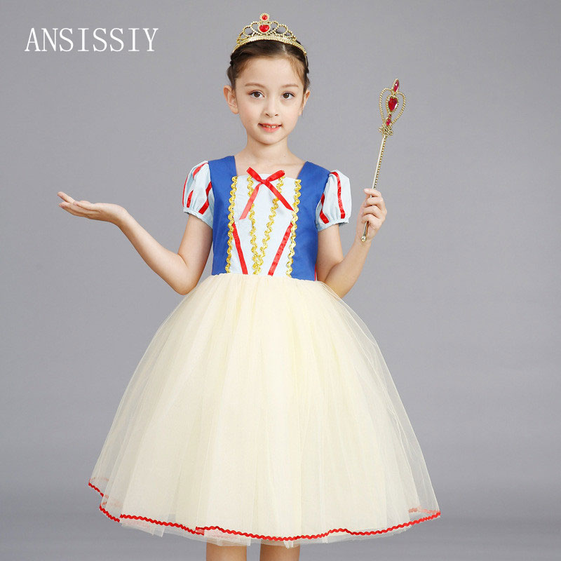 Summer Kid Girl Snow White Princess Dress Halloween Carnival Party Chlidren Clothes Red Ruched Costume Pown A-Line Vestido Cloth leander набор салатников сабина красная лента версаче 16 см 6 шт 02161413 b979 leander