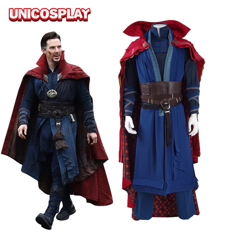 Doctor Strange Costume Dr. Strange Steve Cosplay Clothing Man Battle Suit Superman Costume Adult Custom-made
