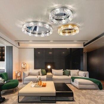 Post-Moderno Nuovo-Progettato RGB Luci di Soffitto di cristallo di cristallo Minimalista luce lving camera sala da pranzo ristorante a soffitto a LED lampada