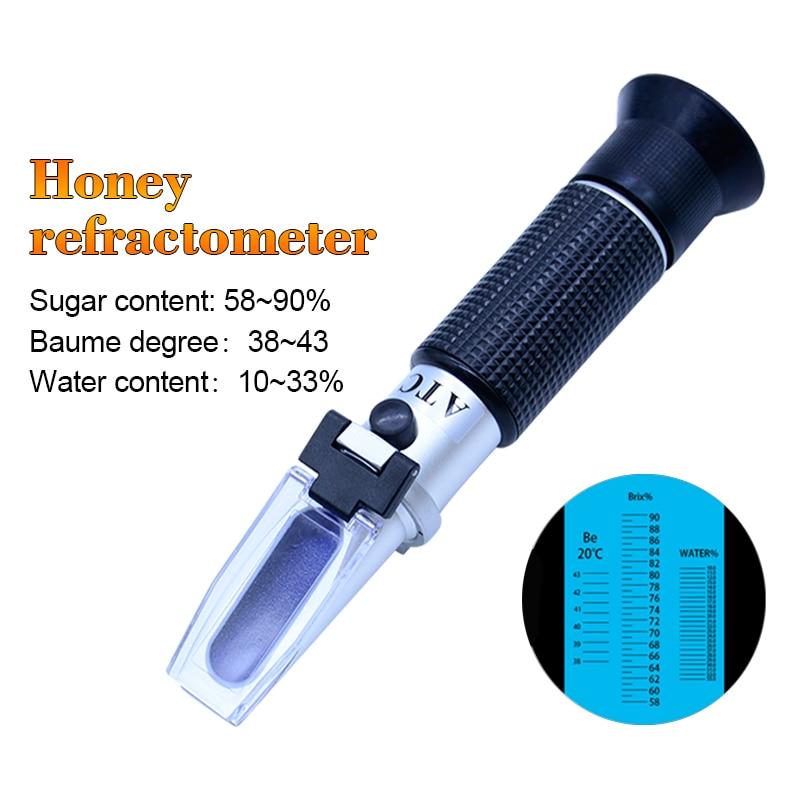 RZ119 Portable Digital honey refractometer Baume meter 58-90% auto refractor Brix meter Refractometer Beekeeping Tester fast arrival lb92t portable sweetness tester brix meter with measuring range 58 92%