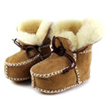 Winter Genuine Leather Baby Snow Boots For Girl Newborn Warm First Walkers Infant Toddler Soft Sole Fur Booties Sheepskin Shoes