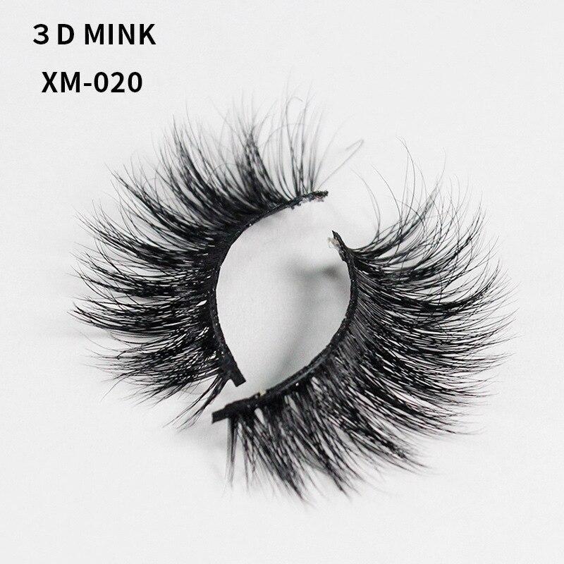 Manual 3d Mink Hair False Eyelashes Natural Long Light Nude Look