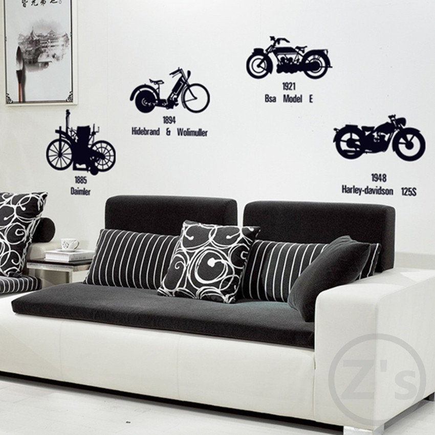 Zs Sticker Vintage Motocross Stickers Motorcycle Wall Sticker Retro Home  Decor Adhesive Art Mural Removable Vinyl In Wall Stickers From Home U0026  Garden On ...