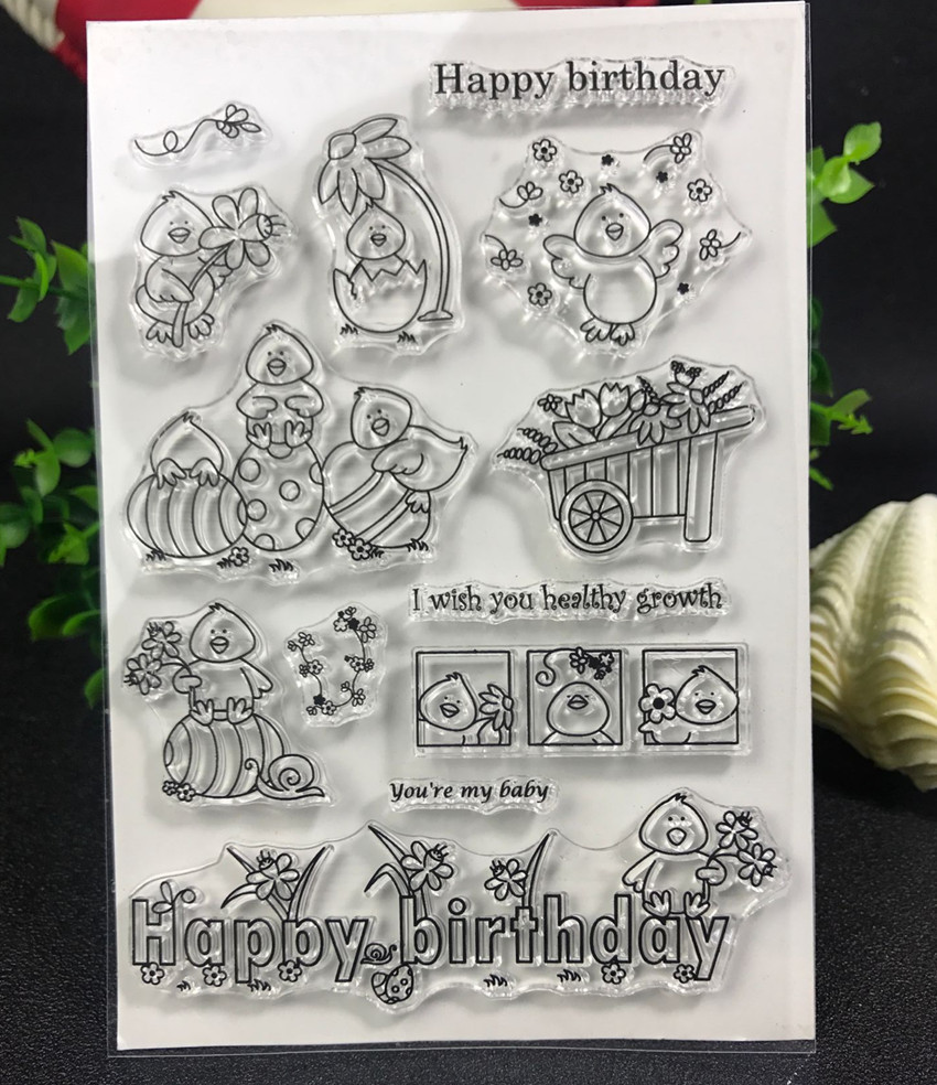 Cute  chicken Transparent Clear Silicone Stamp/Seal for DIY scrapbooking/photo album Decorative clear stamp chicken animals transparent clear silicone stamp seal for diy scrapbooking photo album decorative clear stamp sheets a547