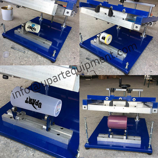 Печатная машина экрана для пластиковых бутылок, ручной экран печатная машина