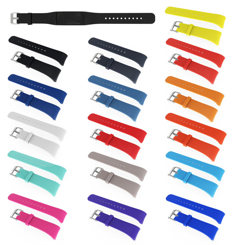 Silicone Sports Waterproof Strap Wristband For Samsung Gear Fit2 PRO <font><b>R360</b></font> / R365 Replacement Watch With Protective Case 1YW image