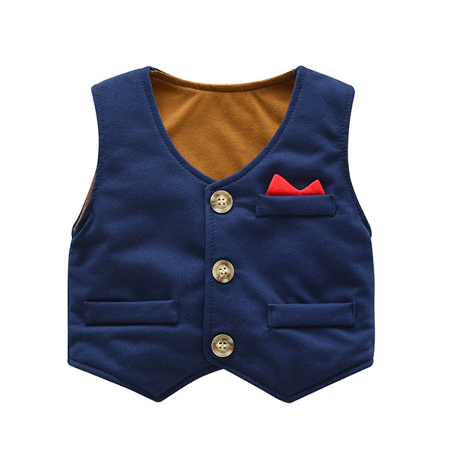 d9f0fdc4ae54c IYEAL Baby Boy Clothes 3 Pieces Suits Vest + Tie Rompers + Pants Fashion  Gentleman Kids Newborn Formal Party Clothing Sets 0-24M